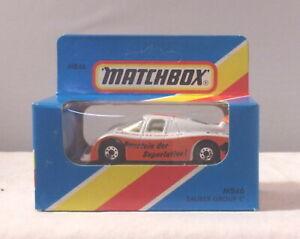 MJ7 Matchbox - 1981 ROW 1-75 - MB46 Sauber Group C - White & Orange - Bisotherm