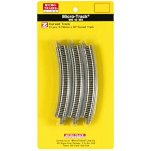 Micro-Trains MTL Z-Scale Micro-Track - 195mm 30 Degree Curve Track 12 Sections