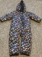Columbia Baby Boy Snowsuit Pramsuit 12-18 Months New Without Tags Blue Fleeced