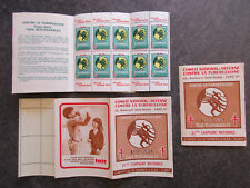"""France carnet timbres vignettes """"Tuberculose"""" 1965-1966 neuf ** TBE XY137"""