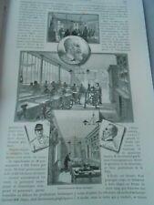 La Nouvelle école d'Horlogerie et les chronomètres Gravure Old Print 1899