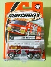Matchbox 2001 #27 of 75 Fire Crusher Ladder Truck VHTF Flame Eaters 92232
