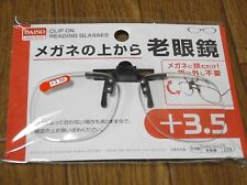 DAISO JAPAN Optical Clip-on Flip-up Magnifying Reading Glasses F/S  +3.50