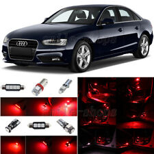 14pcs Brilliant Red LED Interior Light Package Fit For 2009-2013 Audi A4 S4 B8
