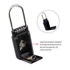 High Quality Portable Key Lock Box with 4 Digit Key Security Padlock-Door Handle