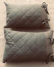 "2 Raymond Waites Decorative Throw Pillows Mint Green 12"" X 18"""