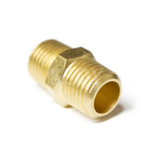 """1/4"""" Nipple Male to Male Equal Fitting Brass Hex Reducer Quick Connector 4393"""