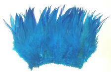 """100+ TURQUOISE BLUE TEAL  ROOSTER SADDLE CRAFT MILLENARY FLY TY FEATHER 6-7""""L"""