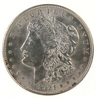 Raw 1921-D Morgan $1 Uncertified Ungraded US Mint 90% Silver Dollar Coin