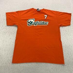 Reebok Miami Dolphins T-Shirt Youth Size XL Orange Chad Henne Football #7 Cotton