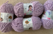 Lion Brand Baby Soft Boucle Yarn- Lavender- 4 Pack A