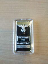 Lingot argent 999 1/4 oz Croix de fer Allemande   Silver ingot