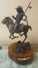 "David Lemon ""BUFFALO WARRIOR""  Bronze Sculpture Limited Edition 29/30 1980'S"
