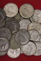 MAKE OFFER 3 Standard Ounces 1964 Silver Kennedy Half Dollars Junk Coins