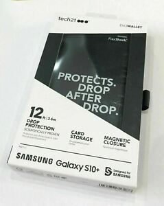 Tech21 Evo Strong Thin Wallet Phone Case for Samsung Galaxy S10+ Black
