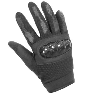 Hard Knuckle Combat Touchscreen Motorcycle Military Gloves - Black Mens Size