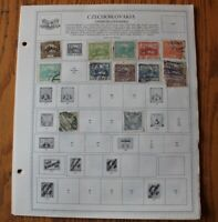 M44 Lot of Czechoslovakia Stamps on 12 Minkus binder Pages