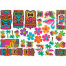 TIKI CUTOUTS Wall Decorations Party Room Hawaiian Luau Poster Flower Lei Beach