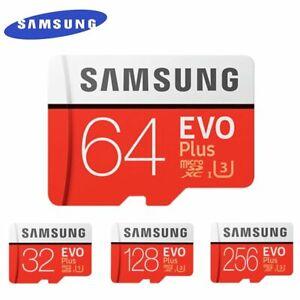 SAMSUNG EVO+ Micro SD 32GB-256GB +80MBPS Class 10 Memory card UHS-I TF/SD CardXC