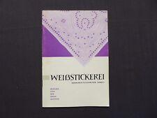 Handarbeitstechniken Band 5, Weißstickerei, Verlag für die Frau, DDR 1973