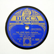 "THE MILLION-AIRS (Lally) ""The Love Race - Selection"" (E+) DECCA F-1929 [78 RPM]"