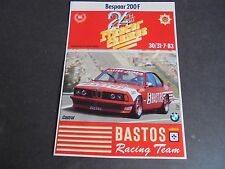 Sticker autocollant : BMW M6 - 24h Franchorchamps - 30&31/7/1983 - Bastos R.Team