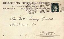 REGNO D'ITALIA - FIRENZE - RARA CARTOLINA POSTALE COMMERCIALE - 1930
