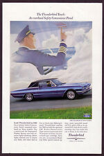 1966 Original Ford Thunderbird Town Landau Car Pilot Photo vintage print ad