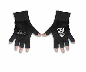 Misfits Gloves Band Logo and Fiend Jarek new Official Fingerless Black One Size