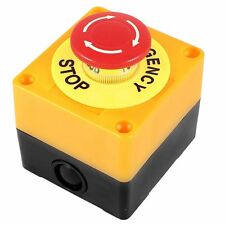 Push button AC 660V 10A Emergency stop plastic case Hard red switch G5J3