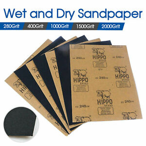 280 400 1000 1500 2000 Grit Wet Dry Paper Sandpaper Sanding Paper Mixed Grade AU