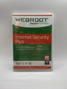 WEBROOT SecureAnywhere Internet Security PLUS NEW
