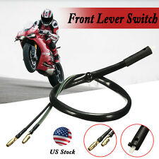 Motorcycle ATV Scooter Stop Light Brake Clutch Front Lever Switch Through Hole