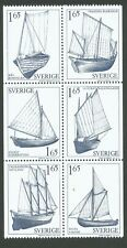 Sweden 1981 Booklet pane Country Sailing Boats. Engraver Mörck. MNH