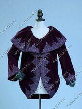 Vintage Velvet Embroidered Womens Coat Jacket Witch Halloween Costume C036