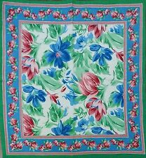Hand Block Print Floral Brush Stroke Napkins Table Linen Cotton Beautiful