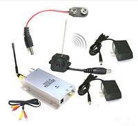 Wireless Mini CCTV Hidden Color Video Pinhole Camera Cam Security With Adapter
