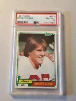 1981 Topps Dwight Clark San Francisco 49ers Rookie Card #422 PSA 8 R.I.P.