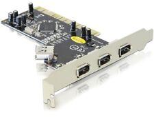 PCI FireWire Karte von Delock, 3 externe Ports, 1 interner Port