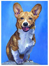 artav Welsh Corgi 01 Art Print on Watercolor Paper