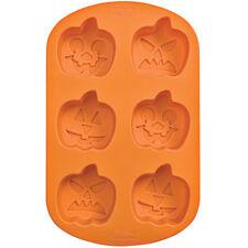 Wilton Silicone Bakeware, 6 Cavity Jack-O-Lantern Mold, 2105-4924