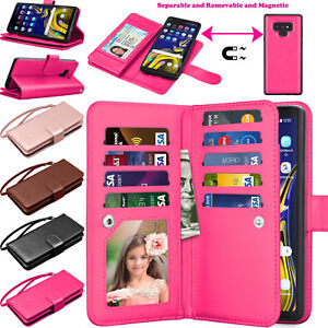 For Samsung Galaxy Note 9/10+/20/8/5 Case Wallet Leather Flip Stand Card Cover
