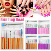 7pcs/set Ceramic Diamond Nail Drill Bits File Set for Electric Manicure