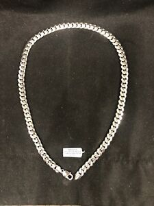 Mens Necklace Cuban Link Chain 925 Sterling Silver