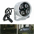 12V 4LED Night Vision IR Infrared Illuminator Light Lamp White for CCTV Camera