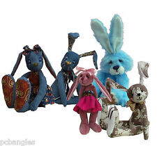 Rabbit soft toy sewing patterns.  Illustrated pattern instructions