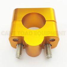 "Gold Universal Bar Clamp Riser Taper Handlebar Dirt Bike ATV Quad 7/8 to 11/8"""""