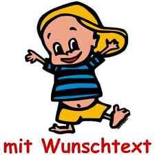 Bunte Babyaufkleber Wunschtext Baby Name Aufkleber 138