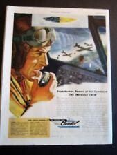 Radioman in U.S. Bomber  WWII War  Print  Ad