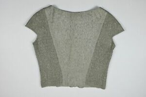 Yves Saint Laurent Women's Silk Blend Gray Sleeveless Zip Back Blouse 40 New